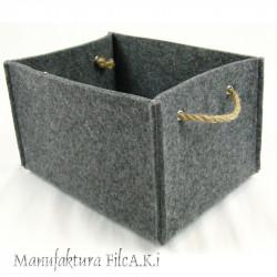 Filcowe pudełko formatu A5 z uchwytami